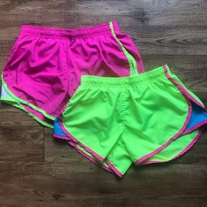 2-Pair Neon Athletic Shorts Yellow & Pink